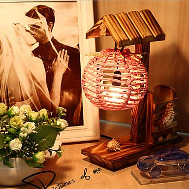 עץ יצירה הבית עם מתנת מנורת שולחן מנורת מכל קישוט עט שינה עבור ילד (צבע אקראי)