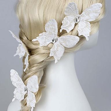 stof hår pin hovedstykke bryllup fest elegant feminin stil