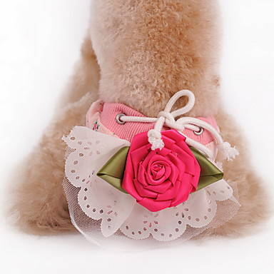 Koira Housut Koiran vaatteet Loma Muoti Kukat / Kasvit Keltainen Vihreä Pinkki Asu Lemmikit