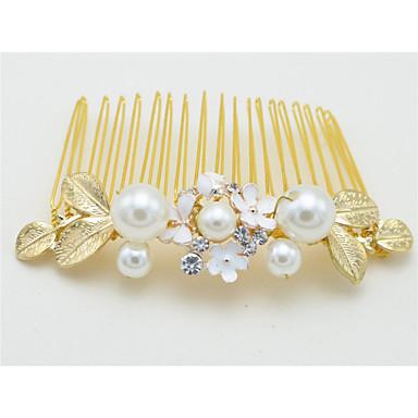 krystall imitasjon perle legering hår kammer headpiece elegant stil