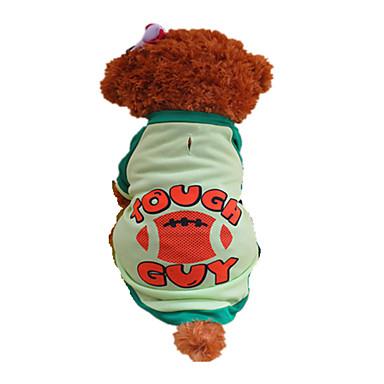 Köpek Tişört Köpek Giyimi Harf & Sayı Yeşil Kostüm Evcil hayvanlar için