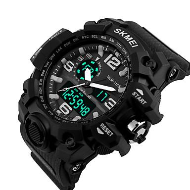 SKMEI Herren Sportuhr Armbanduhr LED digital Silikon Band Schwarz