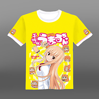 Inspirado por Himouto Fantasias Anime Fantasias de Cosplay Cosplay T-shirt Estampado Manga Curta Camiseta Para Unisexo
