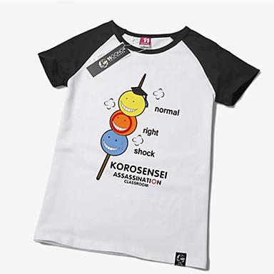 Inspirado por Sala de aula de assassinato Korosensei Anime Fantasias de Cosplay Cosplay T-shirt Estampado Manga Curta Camiseta Para