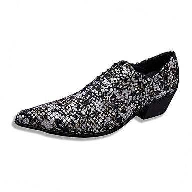 Men's Shoes Amir Limited Edition Pure Handmade Wedding/Party & Evening Leather Oxfords Black/Wine