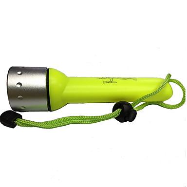Taucherleuchten LED 350lm 1 Beleuchtungsmodus Wiederaufladbar / Wasserfest Tauchen / Bootsfahren / Multifunktion Gelb