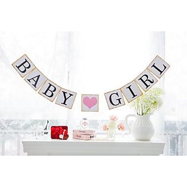 Fødselsdag / Baby Fest Perle-papir Bryllup Dekorationer Have Tema / Blomster Tema / Eventyr Tema Forår / Sommer / Efterår