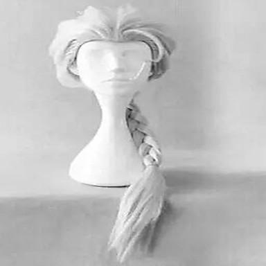 Női Szintetikus parókák Sapka nélküli Hullámos Ezüst jelmez paróka