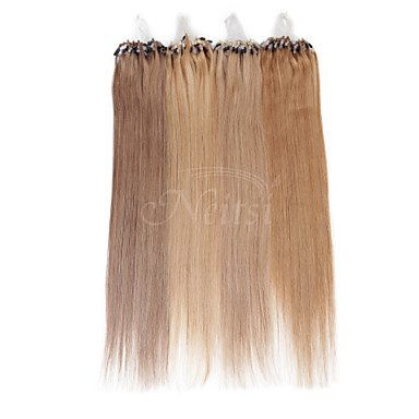 neitsi 100% טבעת מייקרו רחבות אדם שיער לולאות שיער 16 אינץ '25 גדילים