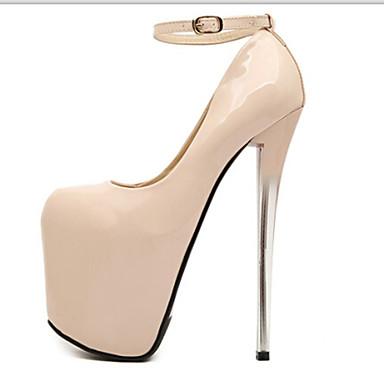 abordables Talons Femme-Femme Chaussures sexy Talon Aiguille Similicuir Printemps / Automne Noir / Amande / Soirée & Evénement / Soirée & Evénement / EU37