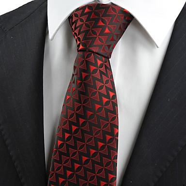 Gravata(Preto / Vermelho,Poliéster)Estampado