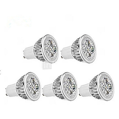350-400lm GU10 LED Spot Lampen / LED-PAR-Scheinwerfer MR16 1 LED-Perlen Warmes Weiß / Kühles Weiß 85-265V