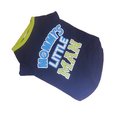 Dog Shirt / T-Shirt Dog Clothes Letter & Number Blue / Green Cotton Costume For Pets Summer Men's Fashion