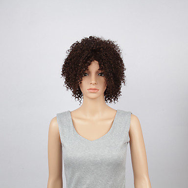 Perruque Synthétique Kinky Curly Dentelle frontale Cheveux Synthétiques