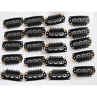 Small Black U Shape Clips for Hair Extensions Weft/Wigs Hair Tools 20pcs