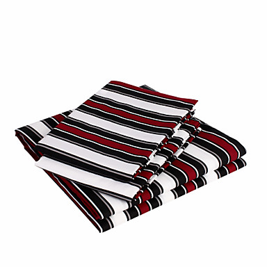 Sheet Set - Microfibre Polyester Stripe 1pc Flat Sheet 1pc Fitted Sheet 2pcs Pillowcases (only 1pc pillowcase for Twin or Single)