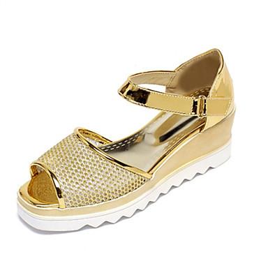 Sandaalit-Kiilakorko-Naisten kengät-Personoidut materiaalit-Pinkki / Hopea / Kulta-Häät / Puku / Rento / Juhlat-Kiilat