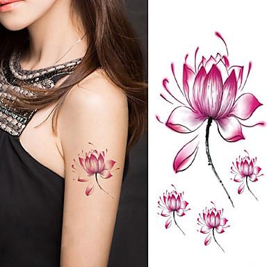 halloween naiset lootuskukka tatuointi väliaikainen tatuointi tarroja väliaikainen taidetta vedenpitävä tatuointi