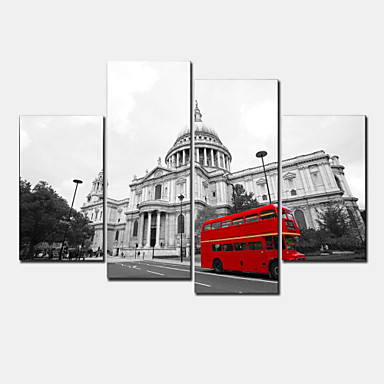Aufgespannte Leinwandrucke Modern Vier Panele Horizontal Wand Dekoration Haus Dekoration