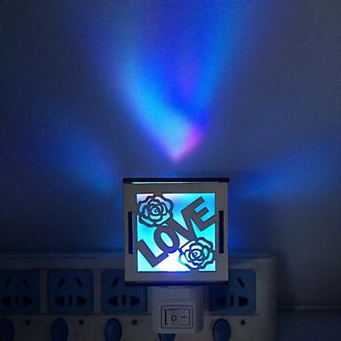 divat az új stílusú k / d mdf / műanyag üreges ki mulitcolor vezetett éjszakai fény