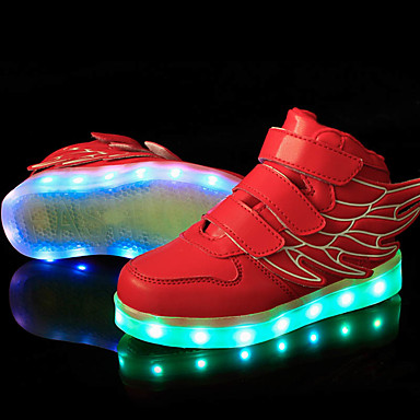 Jungen / Mädchen Schuhe Kunststoff Frühling Komfort / Leuchtende LED-Schuhe Sneakers Schnürsenkel / LED für Rosa / Blau / Grün