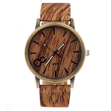Herrn Uhr Holz Armbanduhr Quartz Armbanduhren für den Alltag Leder Band Charme Schwarz Weiß