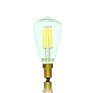 2200/2700 lm E14 E12 LED gömbbúrás izzók Cső 4 led COB Tompítható Dekoratív Meleg fehér AC 110-130V AC 220-240V