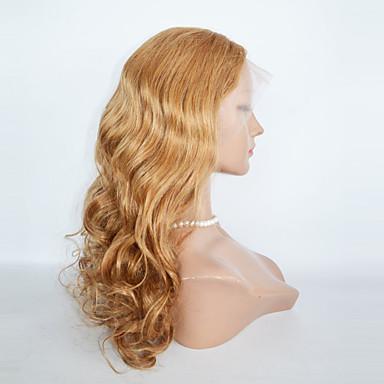 Echthaar Spitzeperücke Große Wellen Spitzenfront 100 % von Hand geknüpft Afro-amerikanische Perücke Natürlicher Haaransatz 130% Dichte