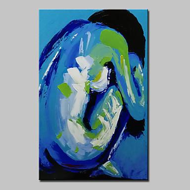 Handgemalte Abstrakt / Menschen / Aktmalerei / Abstrakte PorträtModern Ein Panel Leinwand Hang-Ölgemälde For Haus Dekoration