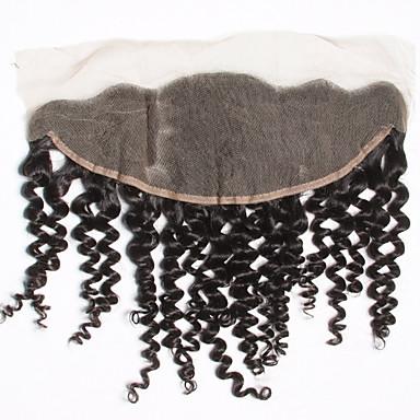 Msbeauty Kinky Curly Lace Front 100% käsinsidottu Sveitsiläinen peruukkiverkko Aidot hiukset Vapaa Osa