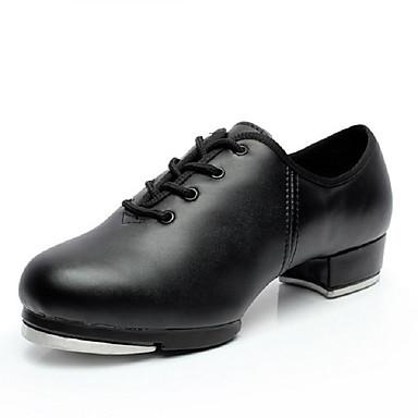 Keine Maßfertigung möglich-Niedriger Heel-Kunstleder-Tapdance-Herren