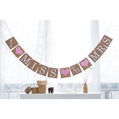 Bryllup / Forlovelse / Polterabend Hårdt Kortpapir Bryllup Dekorationer Strand Tema / Have Tema / Blomster Tema Forår / Sommer / Efterår