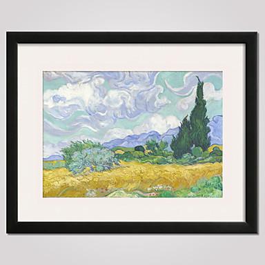 Asetelma Kuuluisa Maisema Vapaa-aika Kehystetty taidepainate Kehystetty kanvaasi Wall Art,PVC materiaali Frame For Kodinsisustus Frame Art