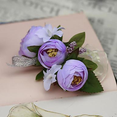 Bryllupsblomster Håndledscorsage Bryllup Fest / aften Silke Bomull 1.18 tommer (ca. 3 cm)