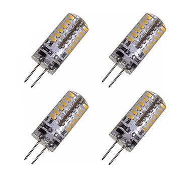 4pcs 2W 150-200 lm G4 LED Mais-Birnen T 48 Leds SMD 3014 Dekorativ Warmes Weiß Kühles Weiß Wechselstrom 12V DC 12V