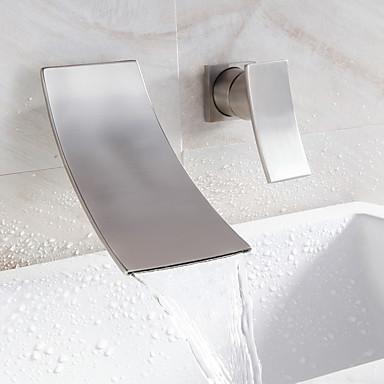 vízesés mosdó csaptelep elterjedt modern design csaptelep (nikkelezett)
