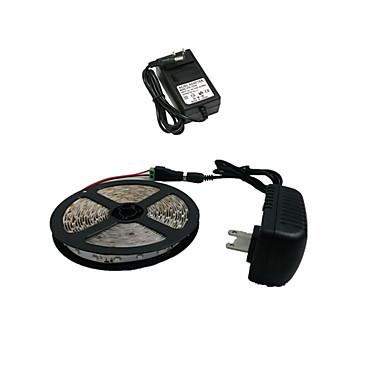 5m Flexible LED-Leuchtstreifen 300 LEDs 3528 SMD Weiß Schneidbar 12 V / IP44