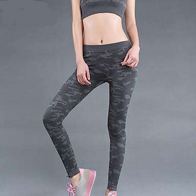 calças de yoga Calças Respirável Secagem Rápida Natural Com Elástico Moda Esportiva Cinzento MulheresIoga Exercício e Atividade Física