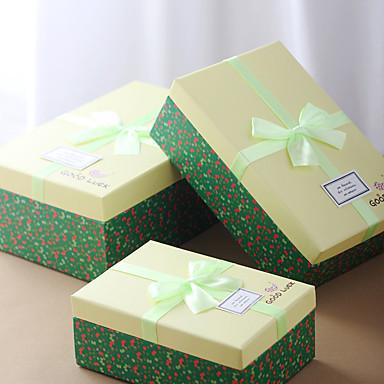 3 Stück / Set Geschenke Halter-Quader Kartonpapier Geschenk Schachteln Nicht personalisiert