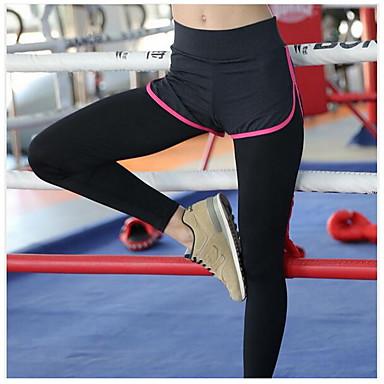 Yogabukser Tights Fort Tørring Pustende Svettereduserende Glat Naturlig Stretch Drakter Dame Yoga & Danse Sko Trening & Fitness