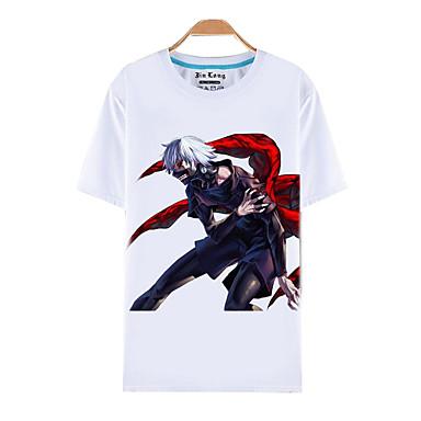 Inspiré par Tokyo Ghoul Ken Kaneki Manga Costumes de Cosplay Cosplay T-shirt Imprimé Manches Courtes Haut Pour Homme