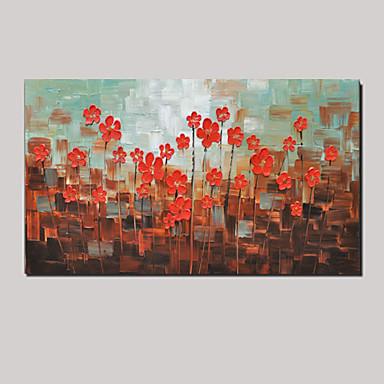 handgemalten modernen dicken Blumenölgemälde Wandkunstausgangsbürodekor mit gestreckten Rahmen