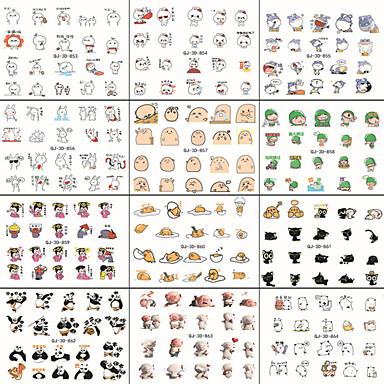 10pcs WeChat Ausdruck eine Reihe von Comic-Nail-Art, da der Kleber die 3D-Aufkleber applique
