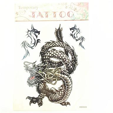 - Tattoo Aufkleber - Muster/Waterproof - Totem Serie - für Herren/Boy/Erwachsener/Teen - Schwarz - Papier - #(1) Stück - #(23cm*20cm)