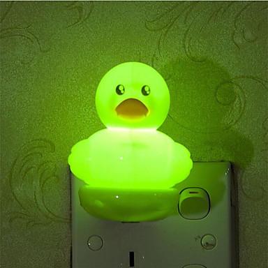 luova lämmin valkoinen valo tunnistin ankka liittyvät vauva nukkumaan yövalo (valikoituja väri)