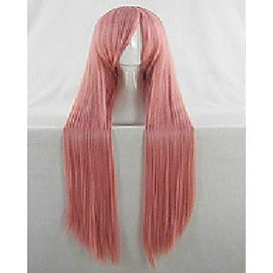 Synthetische pruiken / Kostuum pruiken Recht Synthetisch haar Roze Pruik Dames Erg lang Kostuumpruik