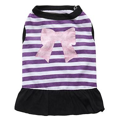 Katze Hund Kleider Hundekleidung Atmungsaktiv Modisch Blumen / Pflanzen Purpur Rosa Kostüm Für Haustiere
