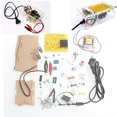 med retail box DIY kit LM317 justerbar regulert spenning step-down strømforsyning suite modul gratis frakt