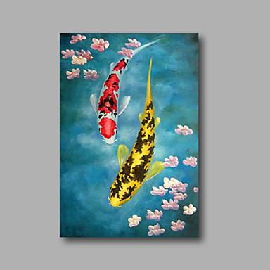 Håndmalte Abstrakt / Dyr / Blomstret/BotaniskModerne Et Panel Lerret Hang malte oljemaleri For Hjem Dekor