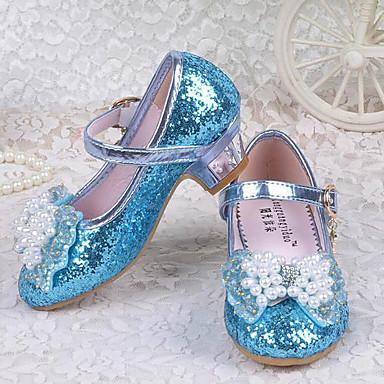 povoljno Cipele za vjenčanje-Djevojčice Šljokice Cipele na petu Mala djeca (4-7s) Udobne cipele Kristal / Mašnica / Šljokice Roza / Plava Proljeće ljeto / Vjenčanje / Vjenčanje / TPE (Termoplastični elastomer)